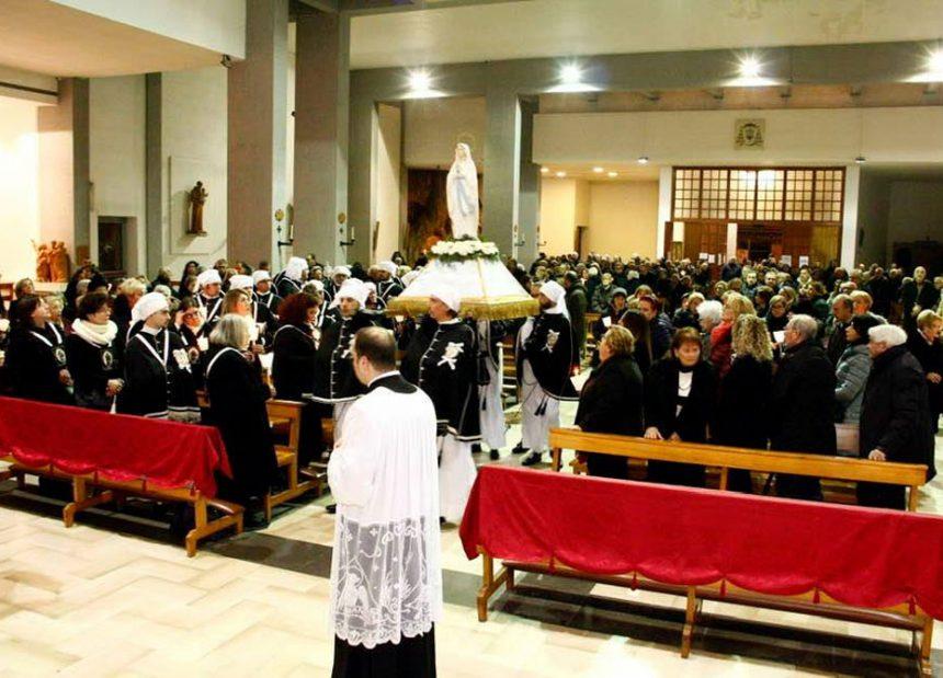Taranto – Messa per la festa della Madonna di Lourdes
