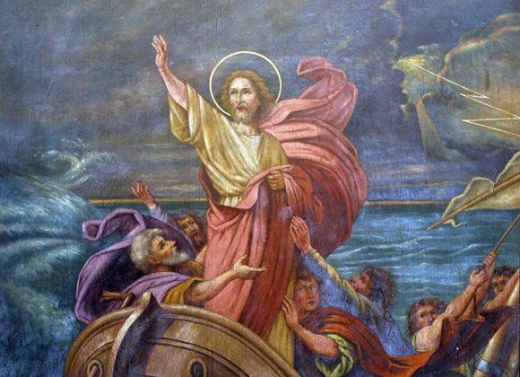 """La parola del giorno """"E salì sulla barca con loro e il vento cessò"""""""